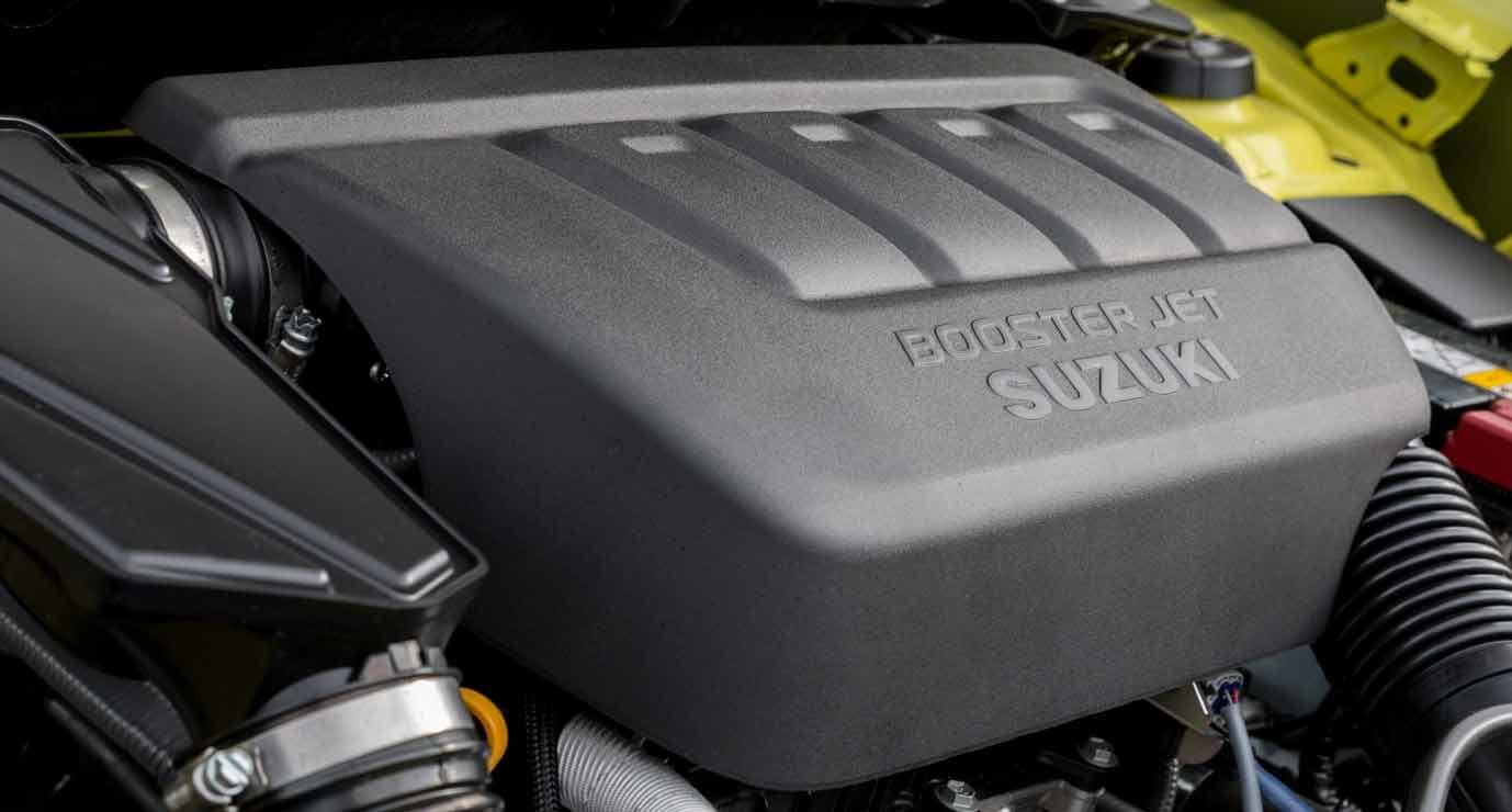 Close up of the boosterjet engine in the Swift Sport