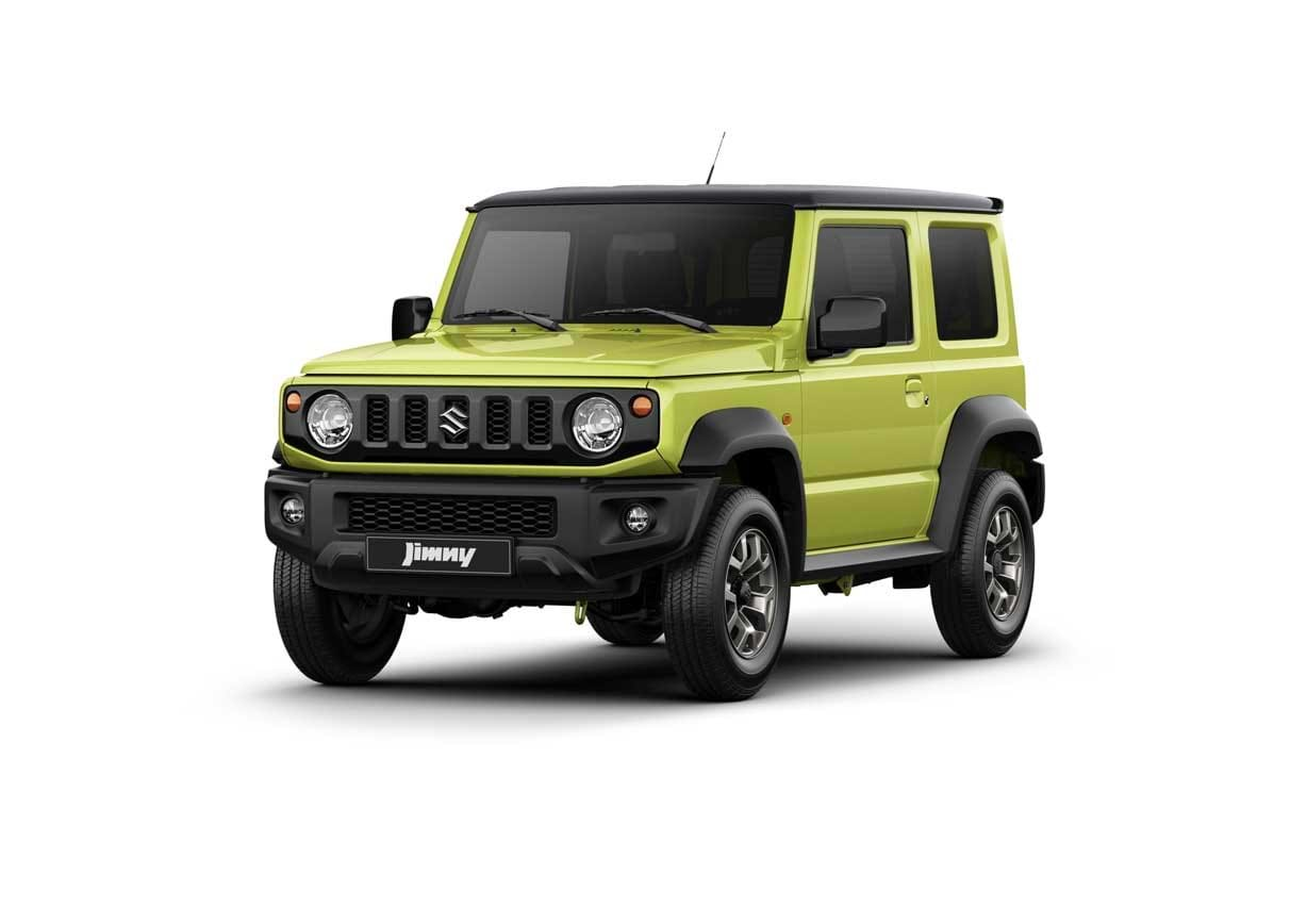 The Jimny in Lime Green/Kinetic Yellow