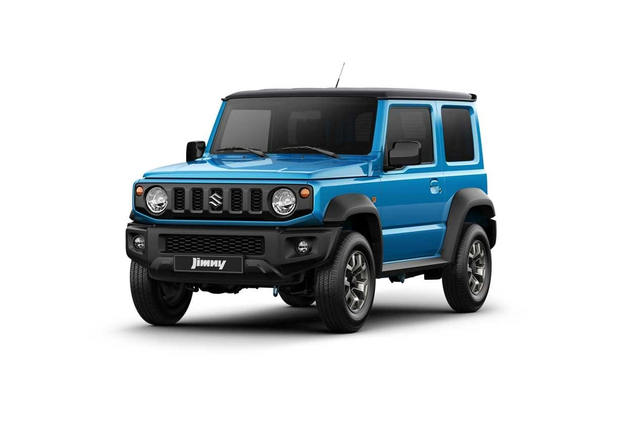 The Jimny in Brisk Blue