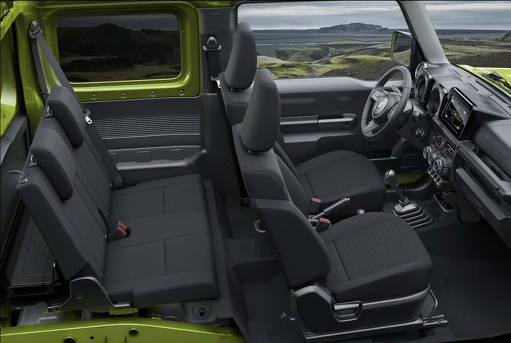 Interior of the Suzuki Jimny