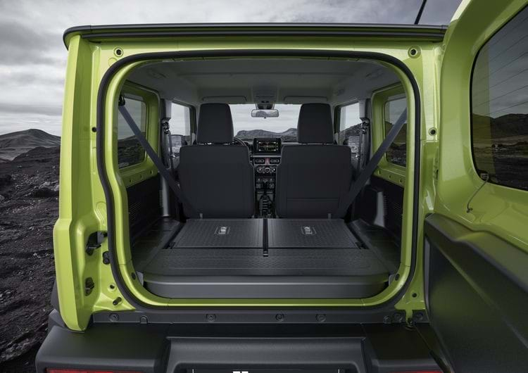 The interior of the Jimny's boot