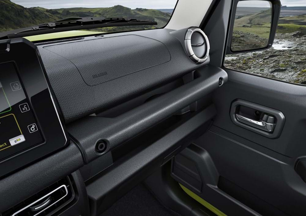 The Interior of the Jimny from the driver's seat