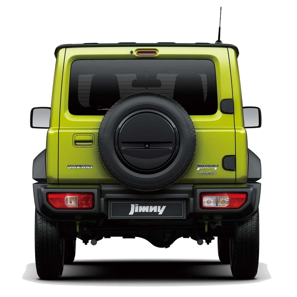 The Jimny viewed from behind