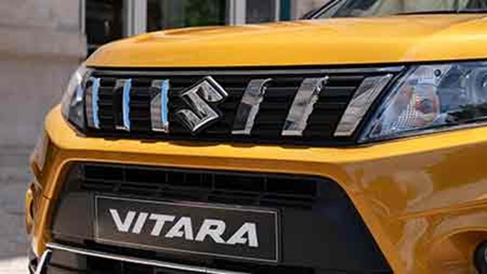 Close up of the grille on the Vitara