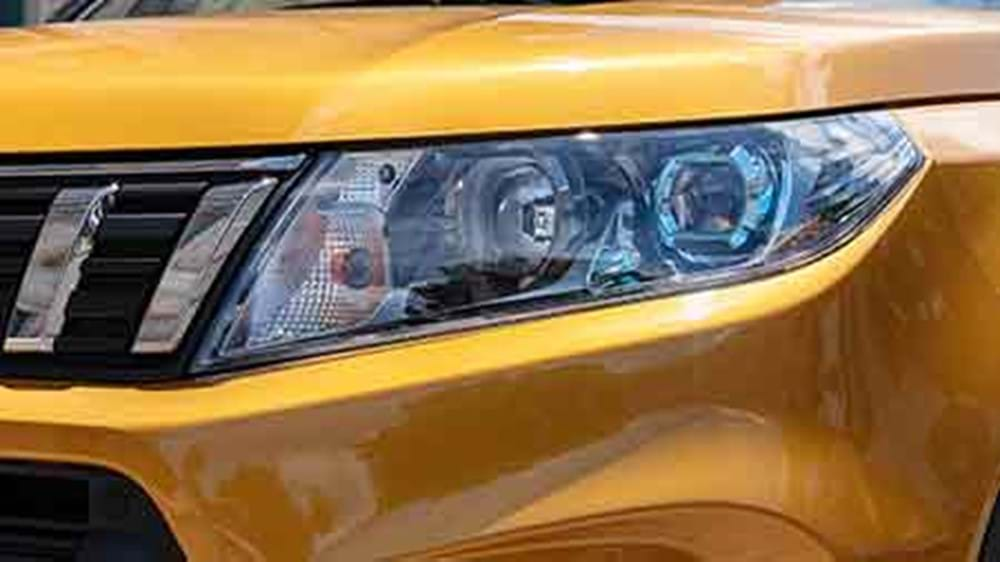 Close up of the Vitara's LED headlights
