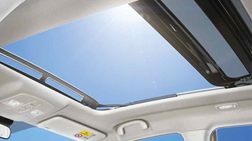 The sunroof on the Vitara, viewed from below