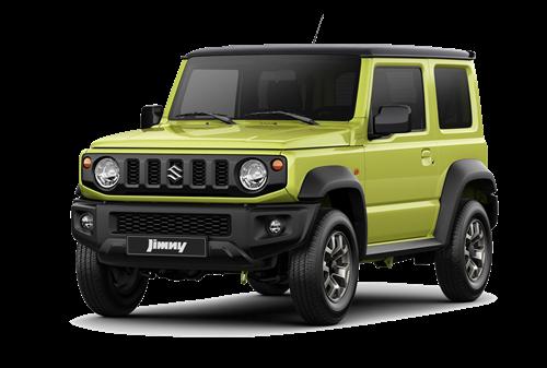 The Jimny SZ5 in Lime Green/Kinetic Yellow