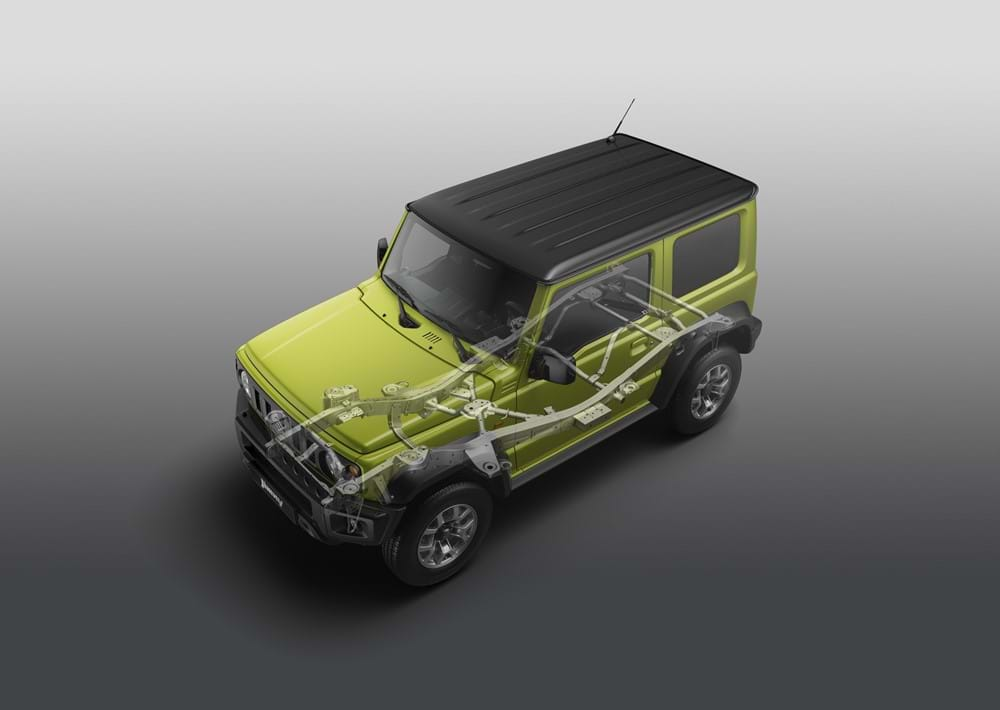 The Jimny's ladder frame