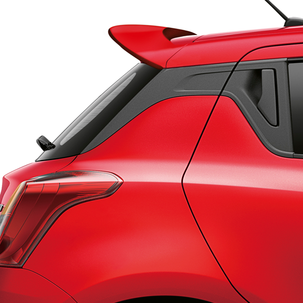A side view of the rear of the Swift Attitude