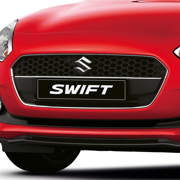 Shot of the mesh front grille on the Swift Attitude