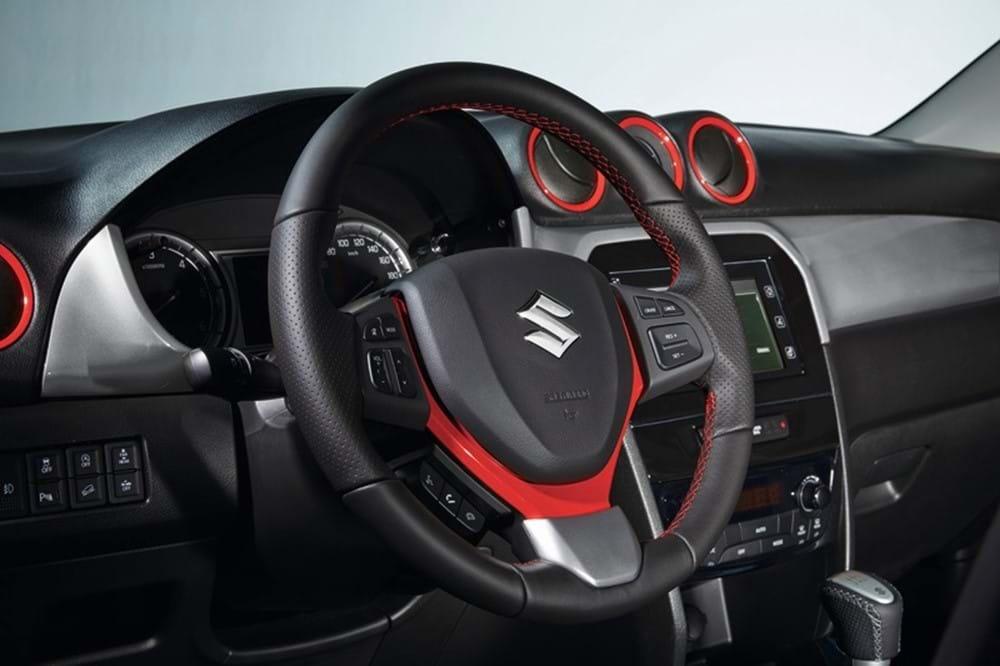 SZ5 steering wheel trim red