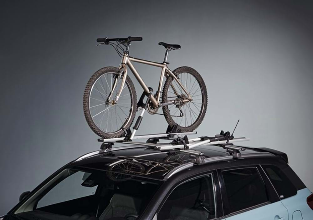 Bike on roof rack of SZ5