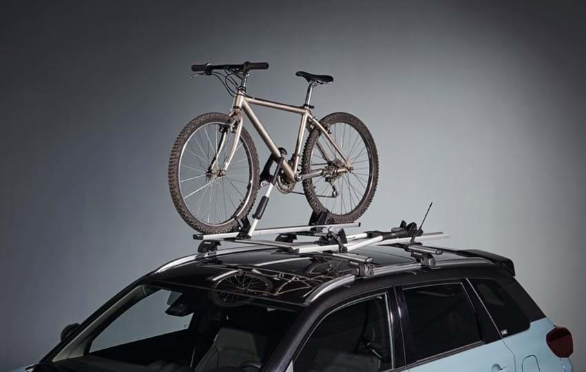 Bike on roof rack of SZ5