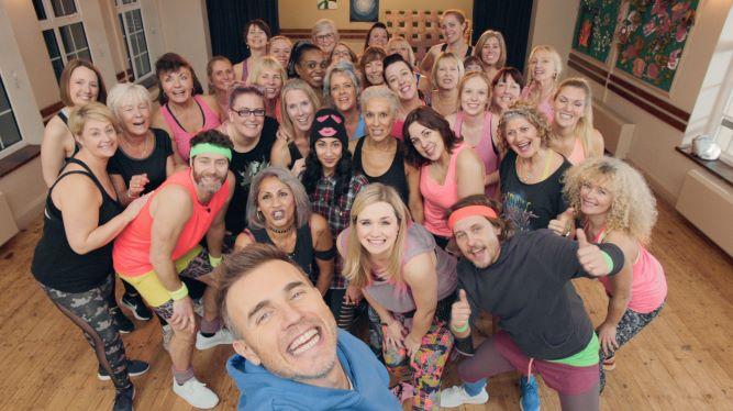 Take That dance class selfie