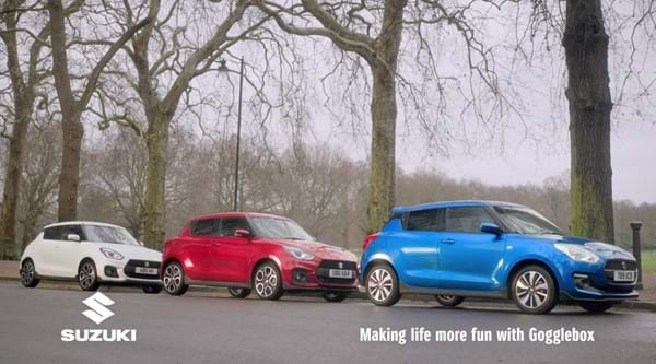 White Swift Sport, Red Swift Sport and Blue Swift Attitude