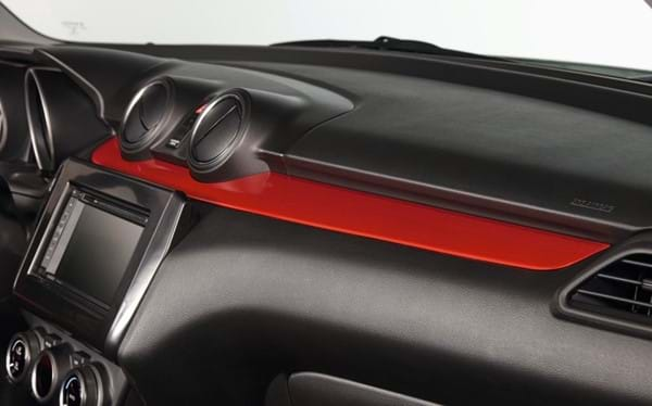 Swift dashboard trim red