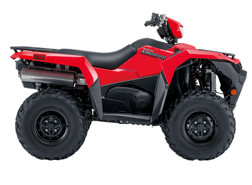 2019 Suzuki KingQuad 750 in flame red