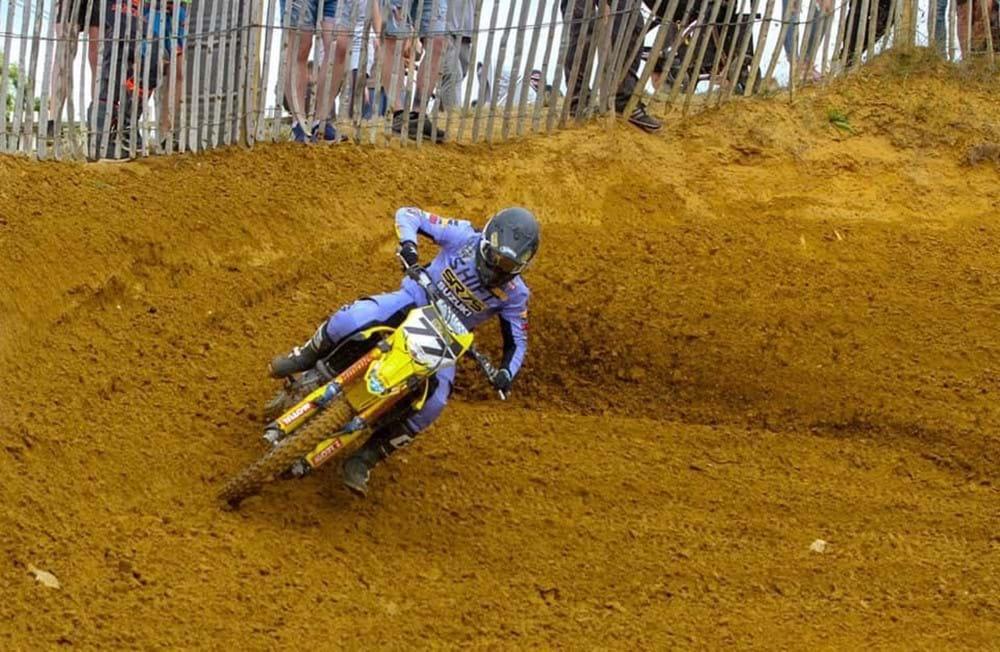 Rider on track
