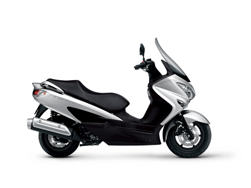 Suzuki Burgman 125cc motor bike, the stylish way to commute.