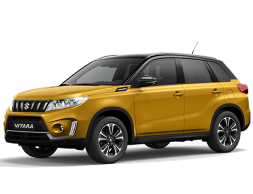 The Vitara in Solar Yellow