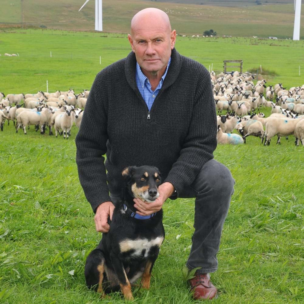 John Yeomans at trial site with  Beulahs