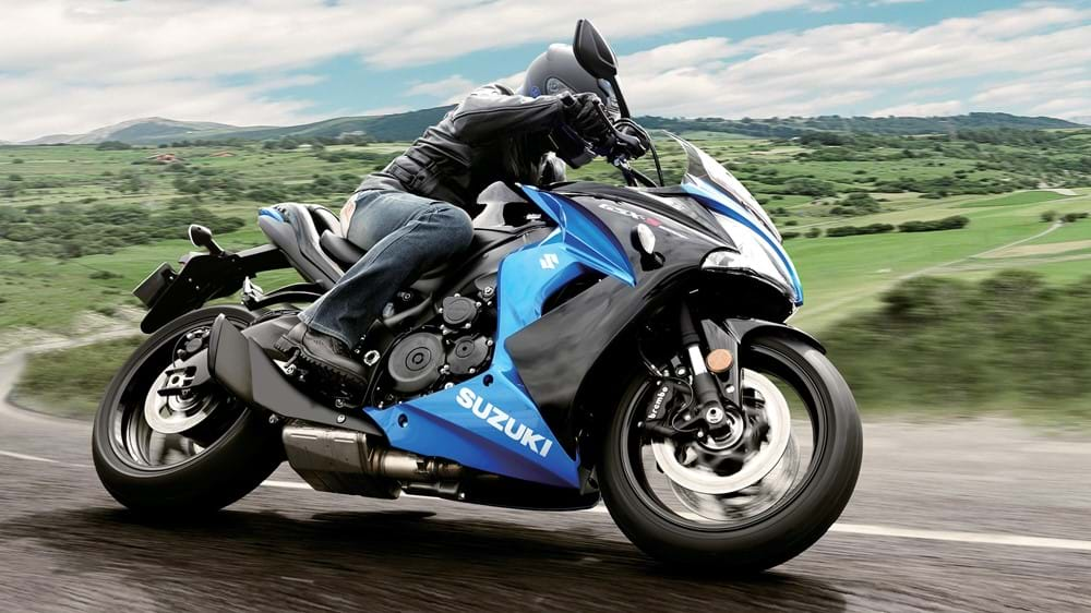 GSX-S1000F action shot of bike on road