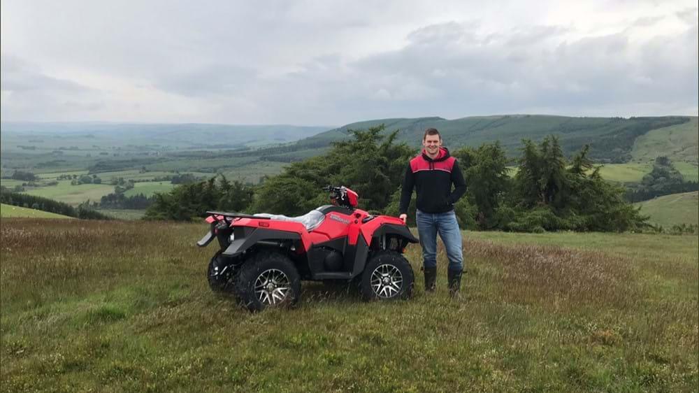 Dan Lydiate Suzuki ATV