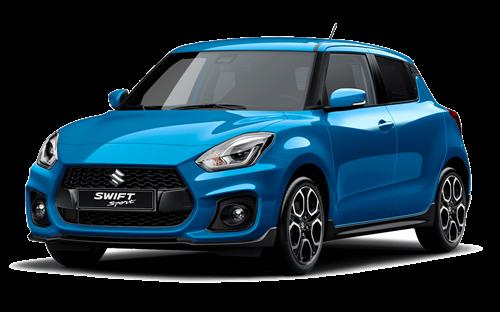 The Swift Sport in Speedy Blue
