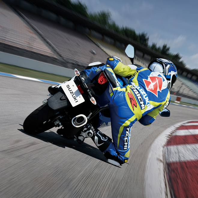 GSX-R125 racer on bike