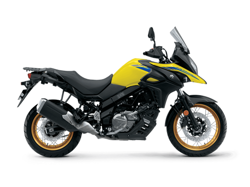 2021 V-Strom 650XT Studio Image - Right Side - Yellow