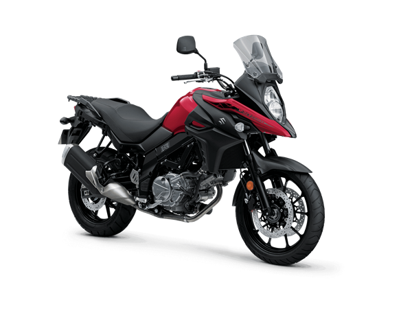2021 V-Strom 650 Studio Image - Front 3/4 Angle - Red