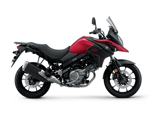 2021 V-Strom 650 Studio Image - Right Side - Red