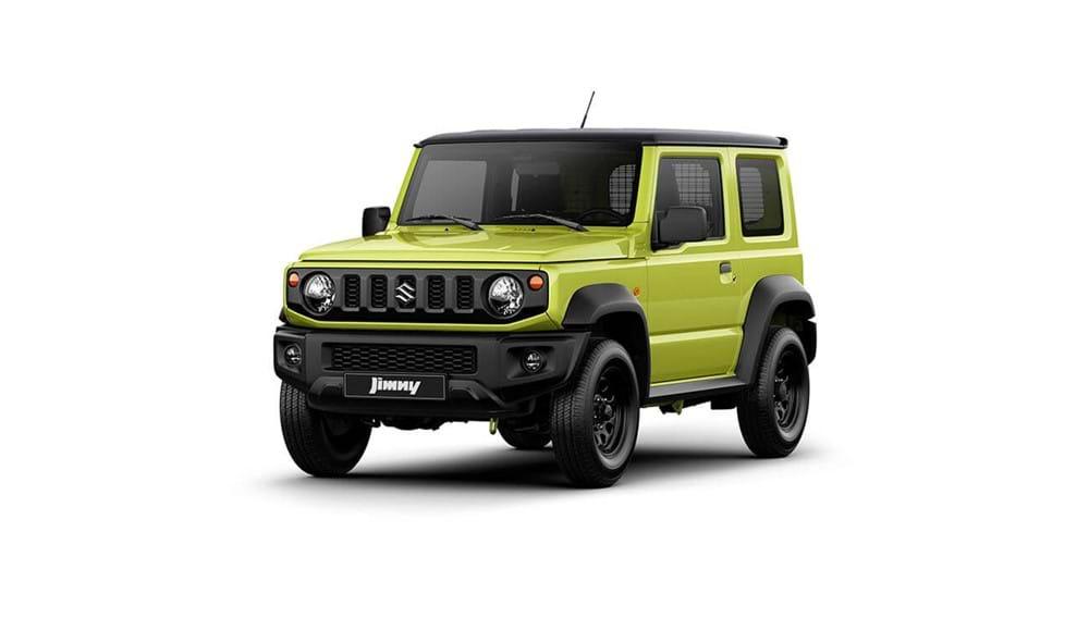 Suzuki Jimny in Kinetic Yellow