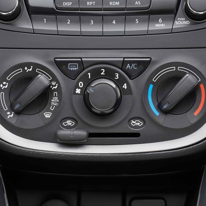 Close up of Suzuki Celerio Air conditioning