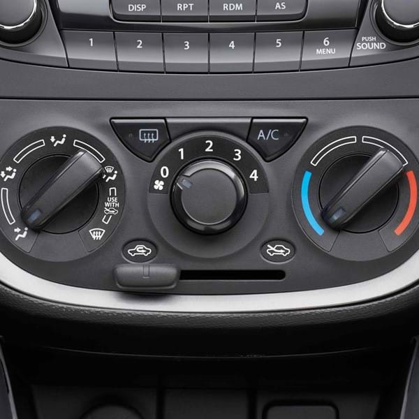 Close up of Suzuki Celerio Air conditioning