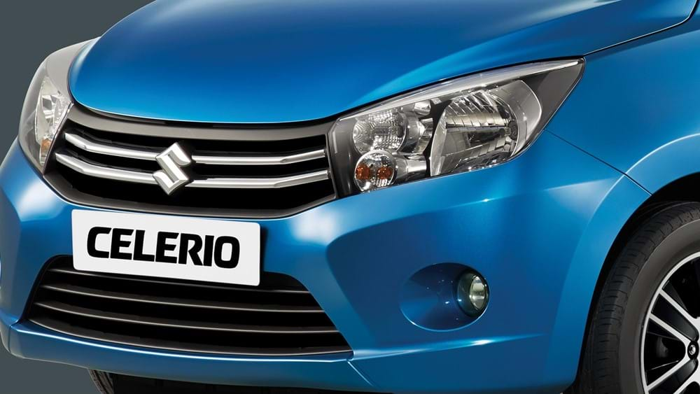 Close up Suzuki Celerio Stylish chrome grille