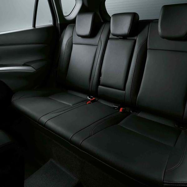 Shot of the SXCross's rear leather seats