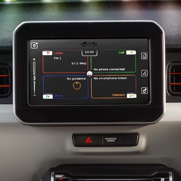The Ignis SZ5's dashboard audio unit