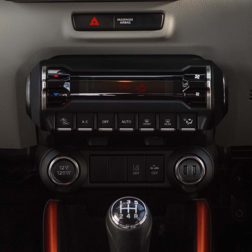 Shot of the Suzuki Ignis's Air conditioning system