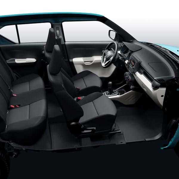 Interior of the Suzuki Ignis SZ3