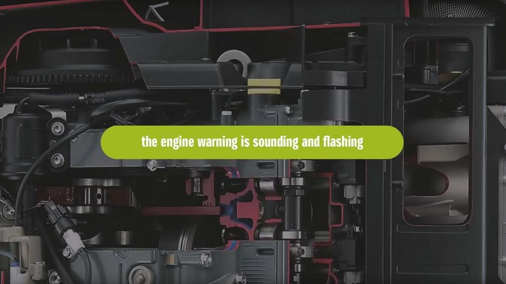 Engine warning lights