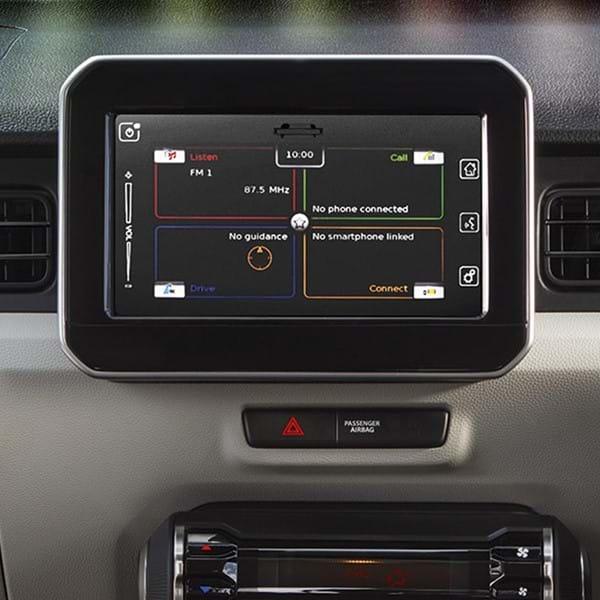 Shot of the Ignis's  dashboard navigation system