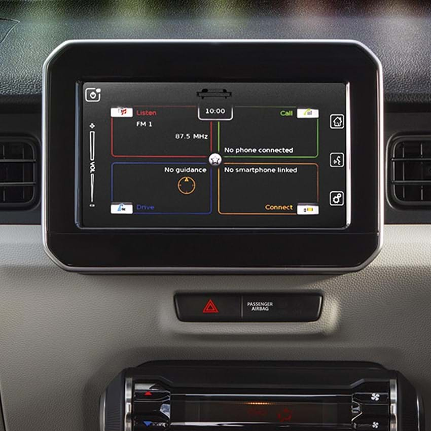 Shot of the Ignis's  dashboard navigation system