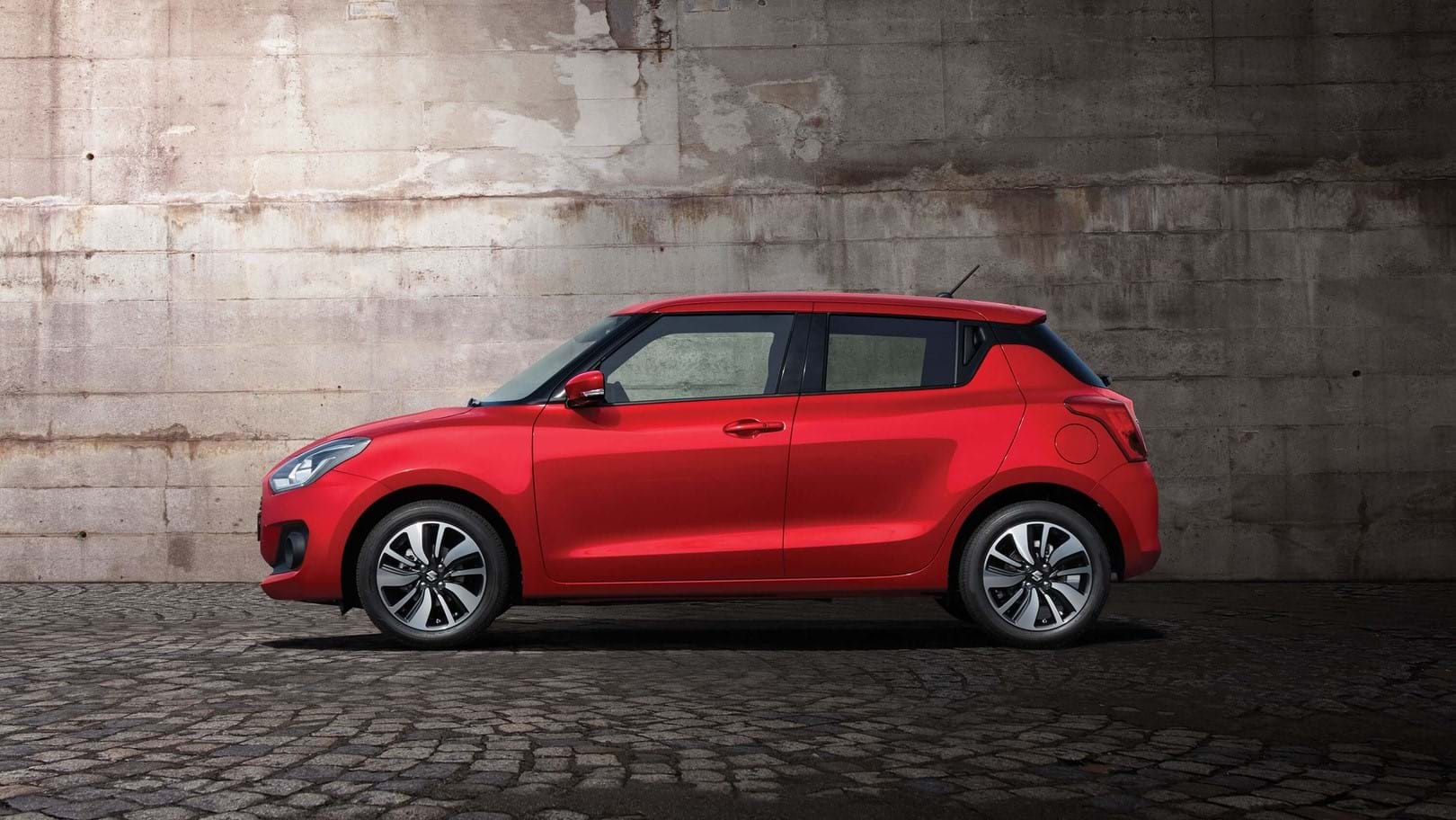 Side facing Suzuki Swift Car 2017