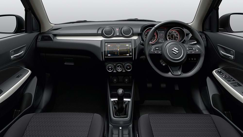 Shot of Suzuki Swift interior