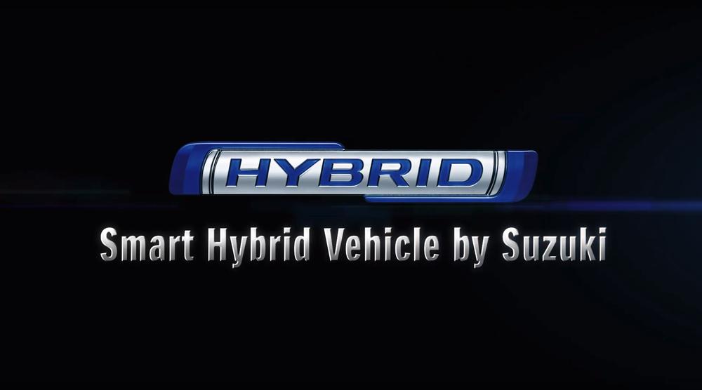 Suzuki Hybrid logo black background