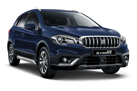 The Suzuki SX4 Cross SZ-T in Sphere Blue